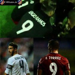 """دوستی راموس و تورس باعث شده بود که راموس در یک بازی دوستانه شماره """"9""""رابرتن کند!"""