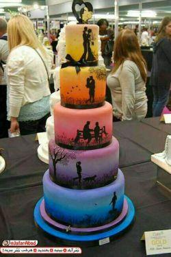 کیک خلاقانه ،از آشنایی اولیه تا ازدواج