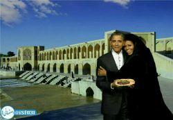 حضور اوباما و عیال محترم به مناسبت باز شدن آب زاینده رود به صرف یه دست بریون  اعلای اصفهان