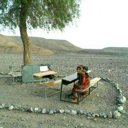 محروم ترین کلاس درس در جهان،،،رودبار کرمان (روستای کلچات)
