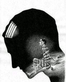 زندان ذهن خطرناک ترین زندان برای انسان است.. اگر ذهن منجمد باشد قلب تا ابد زندانی فکر خرافی است..!