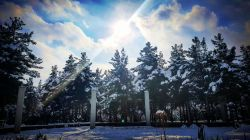 خورشید و سرما  شهر زیبای من مشهد