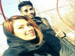 میلاد عبادی پور و همسرش