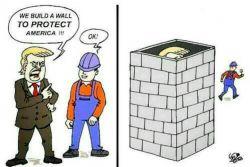 """ترامپ خطاب به کارگره:""""ما برای حفاظت از امریکا (می خوایم) یه دیوار بسازیم""""/کارگره:""""باشه""""... #امریکا #ترامپ #سیاسی #انگلیسی  #english #English"""