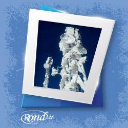 سرمای هوا باعث یخ زدگی دکل مخابراتی در شهر دشت وزنی سردشت شد.  www.rond.ir