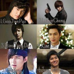 نقش های لی مین هو در فیلم های مختلف