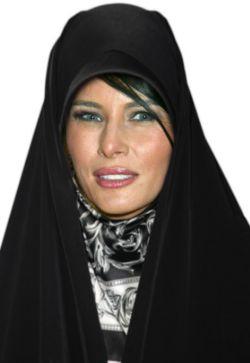 جدا خانم ترامپ چادری بشه چی میشه؟بی جانبود خر مش رجب براش ار ار میکرد وجفتک مینداخت