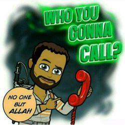 عامیانه است ./ کتابی ش می شه: who you are going to call /-:می خوای با کی تماس بگیری ؟ / _:هیشکی فقط خدا #دعا #عبادت #انگلیسی   #english #English #prayer