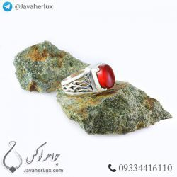 انگشتر نقره مردانه عقیق قرمز _ کد : ۱۰۰۳۹۵