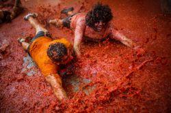 جشنواره گوجه در اسپانیا