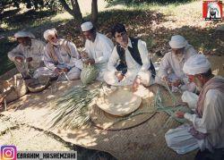 حصیربافی با برگ داز وحشی ، صنایع دستی بلوچستان، عکس از آقای ابراهیم هاشمزهی ،مجری توانای بلوچستان