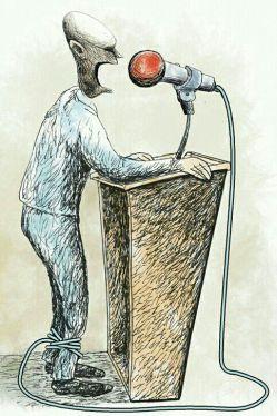ما همیشه باید حرفی را بزنیم که دیگران بپسندند .این است معنی آزادی