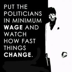 به سیاستمدارها کمترین دستمزد رو بدهید و (بعد) ببینید چقدر سریع همه چیز عوض می شه #دولت #سیاسی #انگلیسی #حقوق_نجومی #24میلیون #دوازده میلیون #english #English