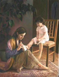 """#مادرمـ_فرشتهـ_استــ..  ولیــ هیچوقتــ ندیدمــ پرواز کند زیرا به #پایشـ منــ را بستهـ بود  برادرمــ را  پدرمــ را و همه ی #زندگیشــ را… همهـ راه ها به عشقــ """"#مادر"""" منــ ختمــ میشود مادر منــ ، #عشقــ منــ استــ…  میترسمــ برای ماندنــ در کنارمــ از #بهشتــ به جهنمــ بیاید مادرستــ دیگر …  #روز_عشقــ_مادر_را_بهـ_تمامیــ_مادرانــ_عزیز_تبریکــ_میگویمــ.."""