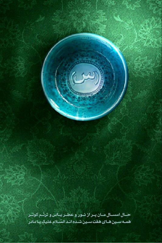 حال امسال مان پر از نور و عطر یاس و ترنم کوثر/همه ی سین های هفت سین شده اند السلام علیک یا مادر