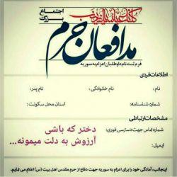هرچندکه در دمشق حاضرنشدم،،اماباچادرخویش ازمدافعان حرمم...امیداست ازمابپذیردبنت الزهرا(س)