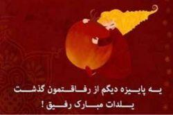 یادتون باشه اولین کسیم که عن یلدارو دراورد دوست گلم یلدات مبارک