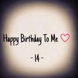 ۱۴ سالم تموم شد :) باورم نمیشه ۱۴ سال الکی الکی گذشت... زود تند سریع تبریک بگین =/❤#18farvardin