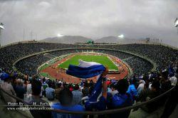 استادیوم کاملا آبی پوش آزادی( البته عکس ماله امروز نیستا)