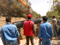 کارگروه فاضلاب - عملیات ترمیم خط انتقال فاضلاب در منطقه کیانشهر