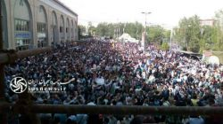 اتفاقات عجیب در مصلی تهران/ طرفداران ابراهیم رئیسی و قالیباف اطراف شبستان اصلی مصلی را هم پُر کردند  کانال افسران جنگ نرم: