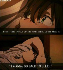 هر بار که از خواب بیدار میشم اولین چیزی که به ذهنم میرسه اینه که: «میخوام برم بخوابم»