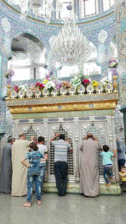 گل آرایی #ضریح #حضرت_زینب (س) به مناسبت میلاد امام حسن مجتبی (ع) ؛ ظهر امروز ...