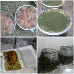 طرح ملی #سفره_ای_به_وسعت_ایران توزیع سبزی پلو با ماهی بین خانواده های نیازمند در #جهرم به همت بنیاد خیریه موج مهربانی