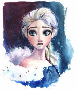 نقاشی از السا-ماجراجویی یخی اولاف