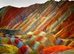 تله های رنگین در چین یکی از عجائب طبیعت وابداعات خالق جل جلاله .. بسیار زیباست...