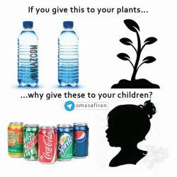 وقتی به گیاهانتان آب می دهید چرا به فرزندان خود این نوشیدنی ها را می دهید؟