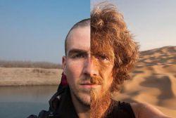 تصویر یک #جهانگرد قبل و بعد سفر از #آلمان تا #چین با پای پیاده - #مسافرنامه