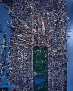 تصویر هوایی از شهر #نیویورک
