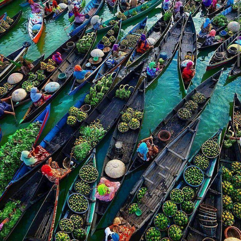 بازار شناور ، #اندونزی