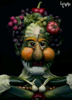 چهره سازی با میوه جات