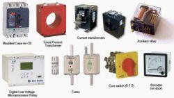 تصاویر تجهیزات تابلو برق انواع فیوز , رله , کلید صفر و یک و تجهیزات اندازگیری ولتاژ و آمپر