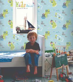 www.kidsdecor.ir -کاغذ دیواری اتاق کودک