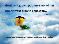 #فلسفه #رشد #زمستان #موفقیت  #success #grow