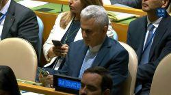 علیرغم توهین ها و سخنان تند #ترامپ علیه ایران، تنها #دیپلمات_ایرانی حاضر در هنگام سخنرانی ترامپ در مجمع عمومی سازمان ملل جایگاهش را به نشانه اعتراض ترک نکرد!! -__-