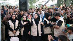 بچه های گروه مستند سازی دارابنامه در مراسم پرچم منطقه دوبرجی فرگ داراب