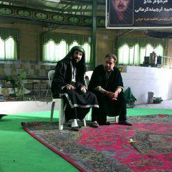 من و حاج حسین- تمرین تعزیه ی جنگ احد
