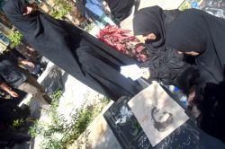 عکاس آزاده نادی مراسم شهید حججی