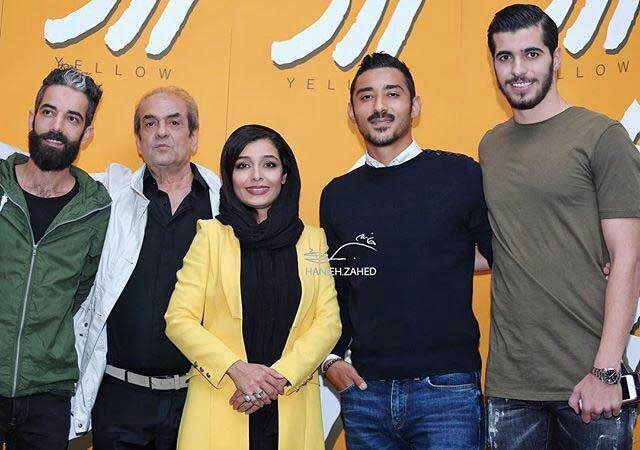 تولد ساره بیات در کنار شوهر خواهرش رضا قوچان نژاد و سعید عزت اللهی