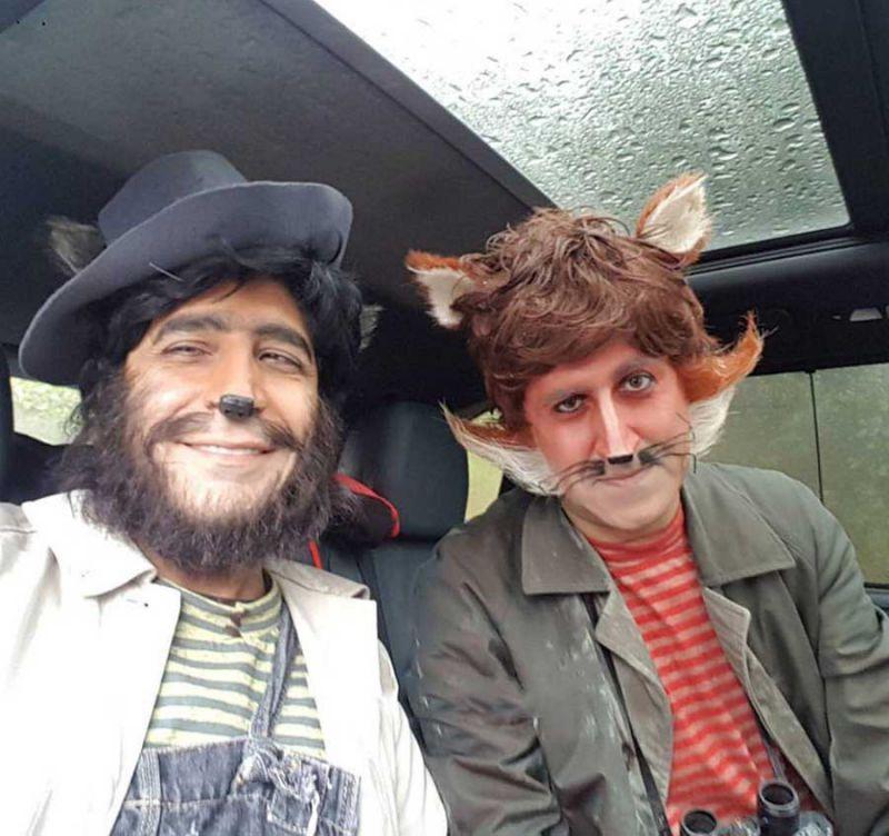 گریم جالب هومن حاجی عبدالهی و امیرغفارمنش در نمایی از فیلم سینمایی پیشونی سفید۲