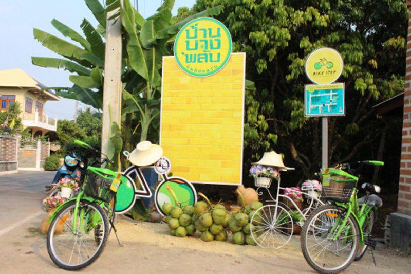 در مسیر دوچرخه سواری در تور بانکوک، میتوانید در باغهای میوه توقف داشته و از ترکیب نعنای خشک شدهی سبز، پوست پوملوی خرد شده و موز که در شیشه قرار گرفته و زیر نور آفتاب خشک شده است، میل بفرمایید.