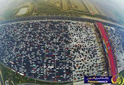 در چین بزرگراهی وجود دارد که پنجاه لاین دارد و البته رانندگان بین خطوط می رانند!