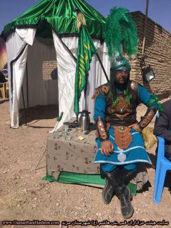 شبیه خوانی هیئت قمر بنی هاشم (ع) شهرستان مرند - عاشورای 1396- مجید مختاری در نقش حضرت ابوالفضل (ع)