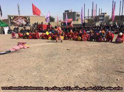 شبیه خوانی هیئت قمر بنی هاشم (ع) شهرستان مرند - عاشورای 1396- سیاهی لشکر