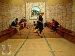 توالت عمومى به معناى واقعى در زمان رومیان باستان...!  توالت عمومى اختراع رومیان باستان، هم عصر ساسانیان بود.