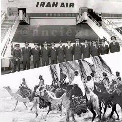 زمانی که ایران اولین هواپیمای بوئینگ 747 را سفارش داد سال 1974 بود و یک پرواز مستقیم به نیویورک داشت. آن زمان کشورهای همسایه هنوز هم از شتر براى حمل و نقل استفاده میكردند!